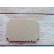 4mm MDF Cog Plaque 70mm